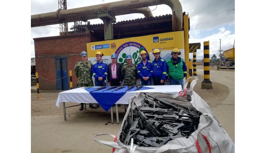 Fundición armas del Ejército en planta de Gerdau Diaco en Tuta, Boyacá.