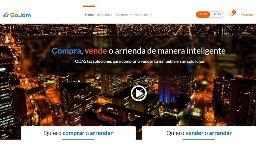 GoJom, plataforma  inmobiliaria llega a Colombia